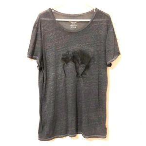 Slightly Sheer Grey Elephant Shirt